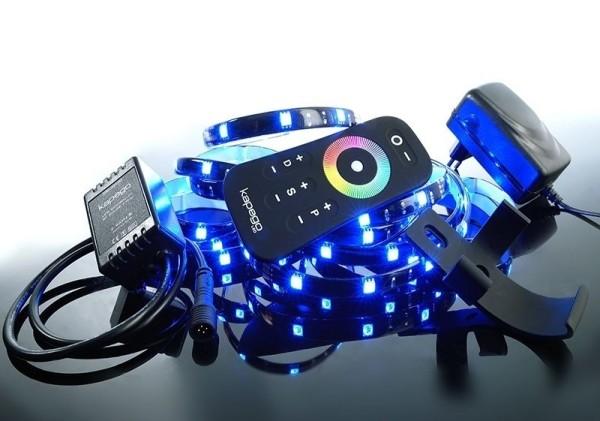 Deko-Light LED Mixit Set, RF 5050-75-RGB-2,5m-Silikon, Kupfer, Schwarz, RGB, 120°, 17W, 12V, 2000mA