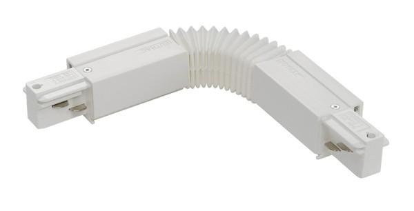 FLEX-VERBINDER, für EUTRAC Hochvolt 3Phasen-Aufbauschiene, weiß