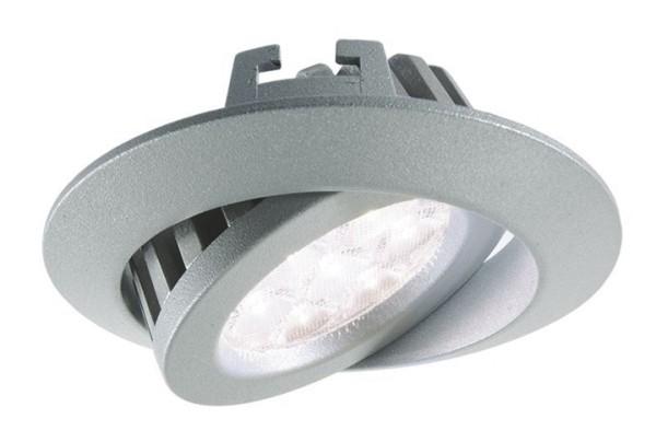 KapegoLED Deckeneinbauleuchte, TD20-7, inklusive Leuchtmittel, Silber, Kaltweiß, Abstrahlwinkel: 45°