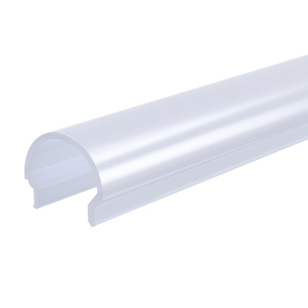 Reprofil, Abdeckung R-01-10, Kunststoff, milchig 40% Transmission, Länge: 2000 mm
