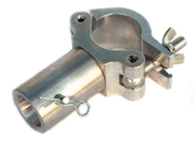 Global Truss, Halfcoupler mit 50 mm Rohr, Aluminium, Silber, Länge: 200 mm