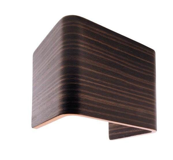 Deko-Light Zubehör, Abdeckung Crateris I Holz Grau Braun, Holz, Braun lackiert, 125x90mm