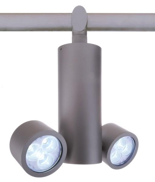 One HV-System, Spot Due 6x3W Power LED , satin