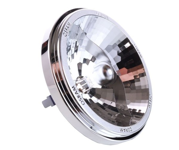 Osram Leuchtmittel, Reflektorlampe Halospot 111, Aluminium, Warmweiß, 24°, 35W, 12V, 67mm
