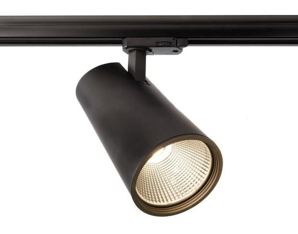 Deko-Light Schienensystem 3-Phasen 230V, Luna 40, Aluminium Druckguss, schwarz mattiert, Warmweiß