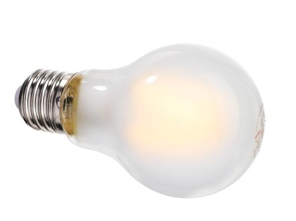 Deko-Light Leuchtmittel, Filament E27 A60 2700K milchig, Glas, Warmweiß, 300°, 8W, 230V, 44mA, 105mm