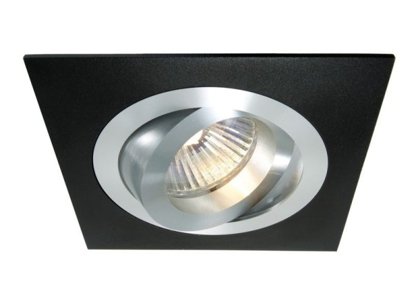 Deko-Light Deckeneinbauring, Aluminium, schwarz, 50W, 12V, 92x92mm