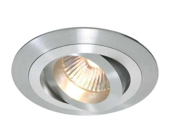 Deko-Light Deckeneinbauring, Aluminium, silberfarben matt, 50W, 12V