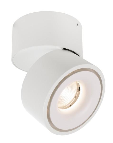 Deko-Light Deckenaufbauleuchte, Uni II, Aluminium Druckguss, weiß, Warmweiß, 35°, 9W, 230V