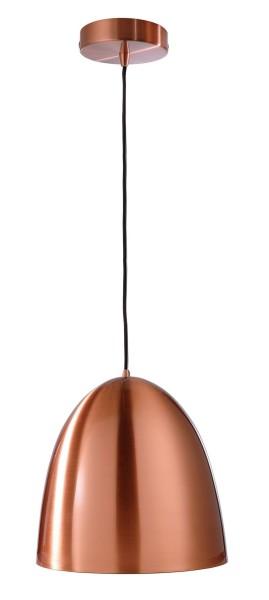 Deko-Light Pendelleuchte, Bell, Metall, kupferfarben, 40W, 230V, 300mm