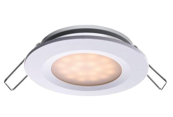 Deko-Light Deckeneinbauleuchte, Aluminium Druckguss, weiß, Warmweiß, 110°, 2W, 6-7V, 350mA