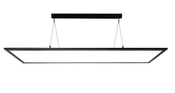 Deko-Light Pendelleuchte, LED Panel transparent, Aluminium, schwarz, Warmweiß, 155°, 50W, 20-39V