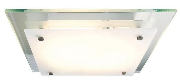 Deko-Light Deckenaufbauleuchte, Movi, Glas, farblos satiniert, 40W, 230V, 320x320mm