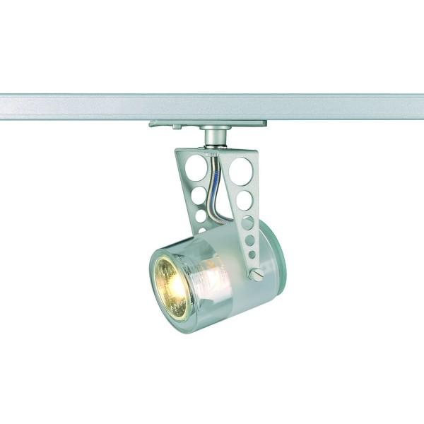 TOBU Lampenkopf, silbergrau, GU10, max. 50W, inkl. 1P.-Adapter