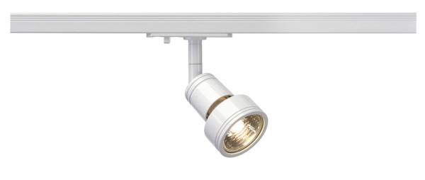 PURI, Spot für Hochvolt-Stromschiene 1Phasen, QPAR51, weiß, max. 50W, inkl. 1Phasen-Adapter