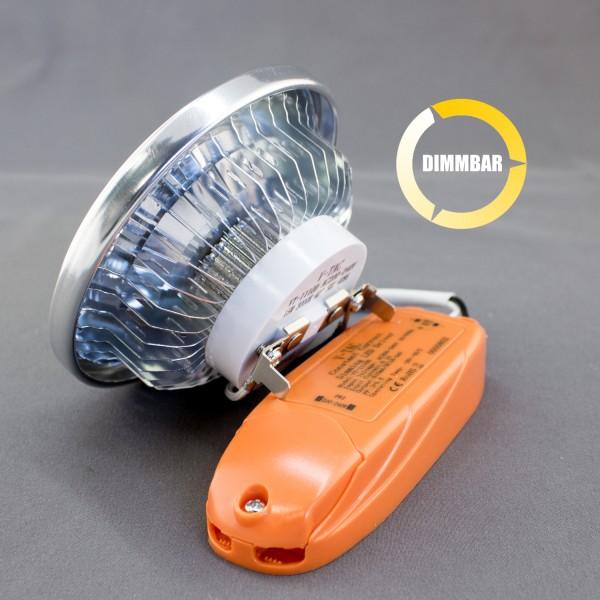 LED AR111, G53, 15W, dimmbar, COB, 40°, warm weiß, inkl. LED-Treiber 230V