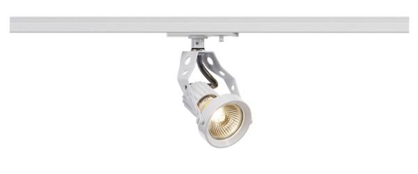 AERO, Spot für Hochvolt-Stromschiene 1Phasen, QPAR51, weiß, max. 50W, inkl. 1Phasen-Adapter