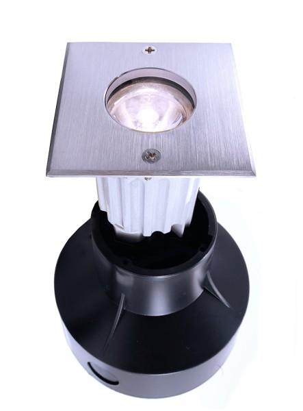 Bodeneinbauleuchte, symmetrisch, 220-240V AC/50-60Hz, 2,00 W