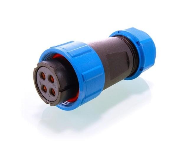 Deko-Light Kabelsystem, Weipu Buchse Sonder 4-polig, Kunststoff, 24V
