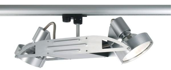3-phasen Spot Lomio double G12 2x70W silber