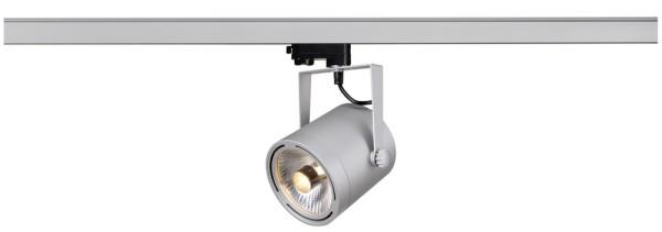 EURO SPOT, Spot für Hochvolt-Stromschiene 3Phasen, QPAR111, rund, silbergrau, max. 75W