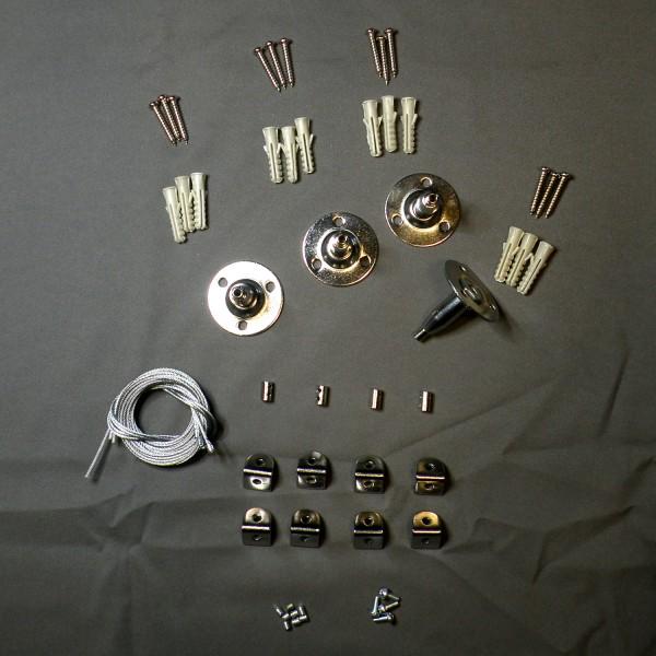Abhängset für LED Panel, weiß, 60x60cm, 45W, silbergrau