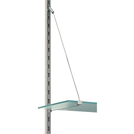 Seilbodenträger für C-TRACK, 2 Stk., silbergrau