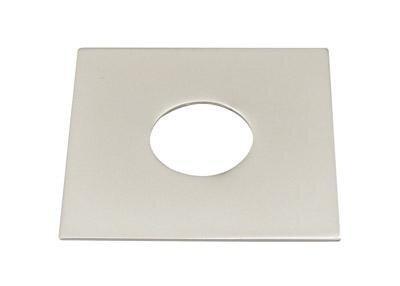 Quad Platte für Light Point matt silber, 60 x 60 mm.