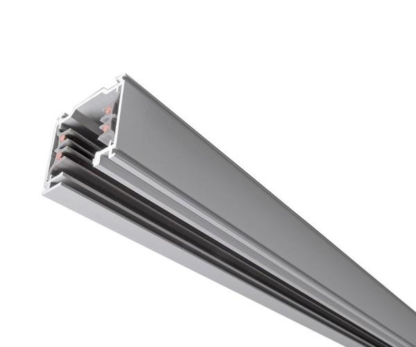 Ivela Schienensystem 3-Phasen 230V, Stromschiene quadratisch, Aluminium, silberfarben matt, 230V