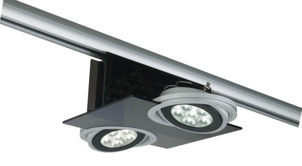 3-phasen Spot Parasol I 2 x AR111 LED