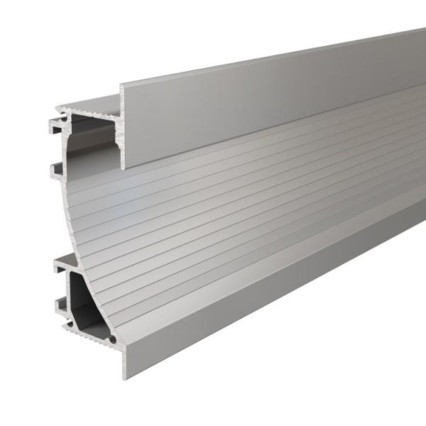 Reprofil, Trockenbau-Profil, Wandvoute EL-02-12 für LED Stripes bis 13,3 mm, Silber-matt, eloxiert