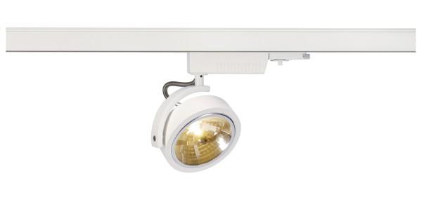 KALU TRACK, Spot für Hochvolt-Stromschiene 3Phasen, QR111, weiß, max. 50W, inkl. 3Phasen-Adapter