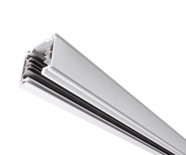 Ivela Schienensystem 3-Phasen 230V, Stromschiene quadratisch, Aluminium, weiß, 230V, 2000mm