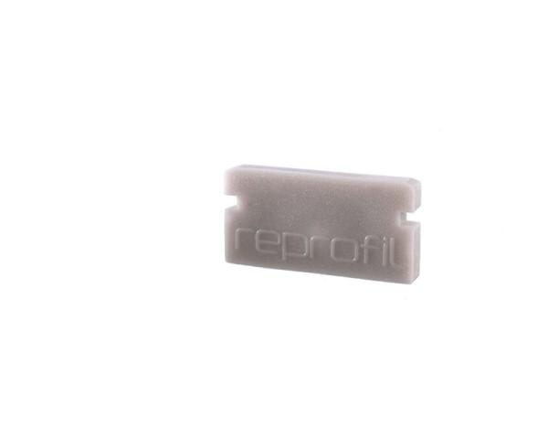 Reprofil Profil Zubehör, Endkappe P-AU-01-08 Set 2 Stk, Kunststoff, Grau, 14x6mm
