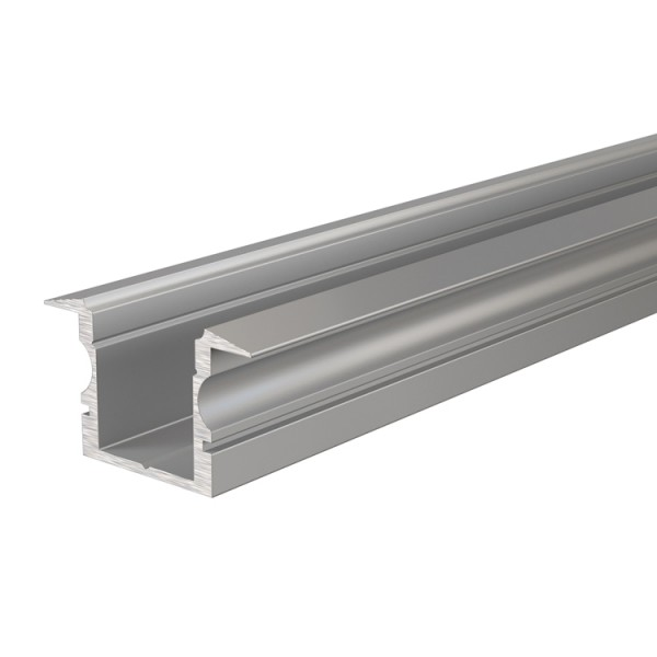 Reprofil, T-Profil hoch ET-02-10 für LED Stripes bis 11,3 mm, Silber-matt, eloxiert, 2000 mm