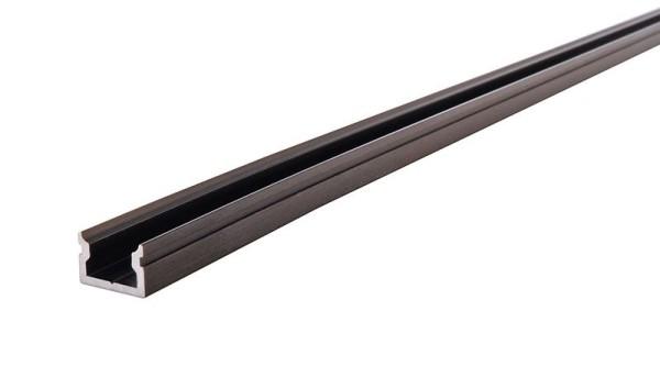 Reprofil Profil, U-Profil flach AU-01-05, Aluminium, Schwarz-matt gebürstet, 2000mm