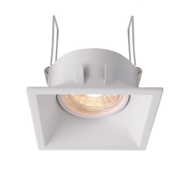 Deko-Light Deckeneinbauring, Auva eckig, Aluminium Druckguss, weiß matt, 35W, 12V, 90x90mm