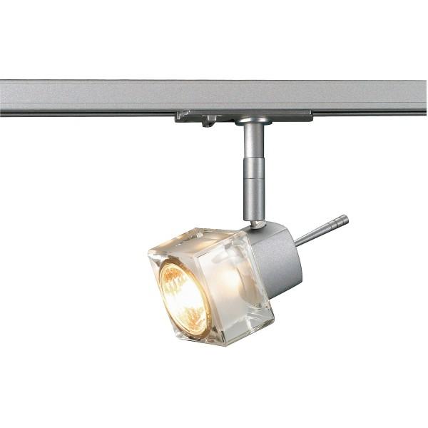 BLOX, Spot für Hochvolt-Stromschiene 1Phasen, QPAR51, silbergrau, max. 50W, inkl. 1Phasen-Adapter