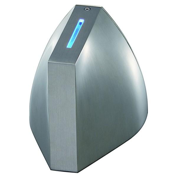 TENDA LED Wandleuchte, alu brushed, weisse LED am unterem Beam, blaue LED am oberen Beam