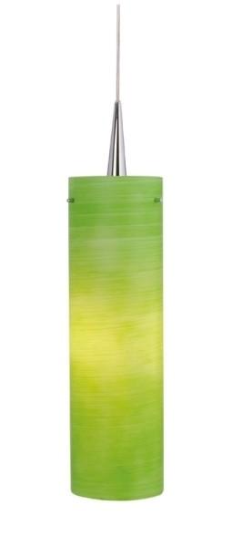 Hängeleuchte Colmena, chrom, Glas grün