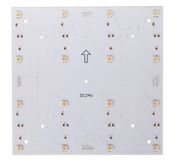 Deko-Light Modular System, Modular Panel II 4x4 RGB + 3000K, Aluminium, Weiß, RGB + Warmweiß, 120°
