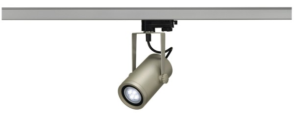 EURO SPOT INTEGRATED LED, Spot für Hochvolt-Stromschiene 3Phasen, LED, 4000K, silbergrau, 24°