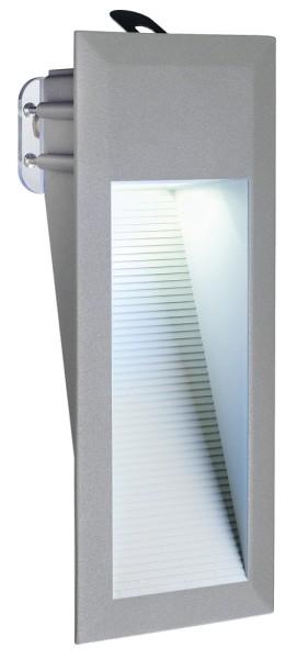 DOWNUNDER15, Outdoor Wandleuchte, LED, 6500K, IP44, steingrau, 0,9W