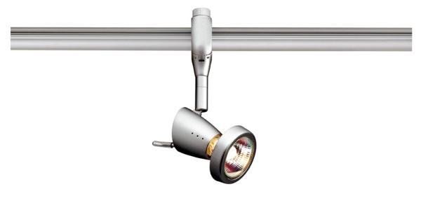 SIENA, Spot für Hochvolt-Stromschiene EASYTEC II, QPAR51, silbergrau, max. 75W, inkl. Dekoring