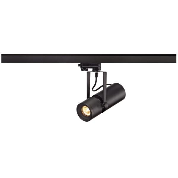 EURO SPOT, Spot für Hochvolt-Stromschiene 3Phasen, QR51, schwarz, max. 50W, inkl. 3Phasen-Adapter