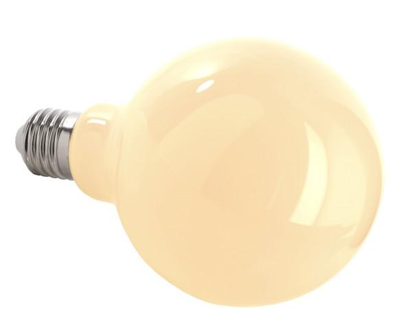 Deko-Light Leuchtmittel, Filament E27 G95 2700K milchig, Glas, Warmweiß, 300°, 8W, 230V, 44mA, 140mm