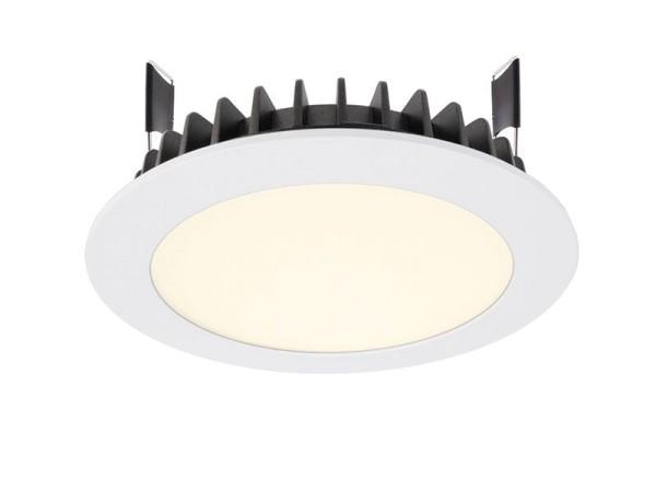 Deko-Light Deckeneinbauleuchte, LED Panel Round III 12, Aluminium Druckguss, weiß, Warmweiß, 100°