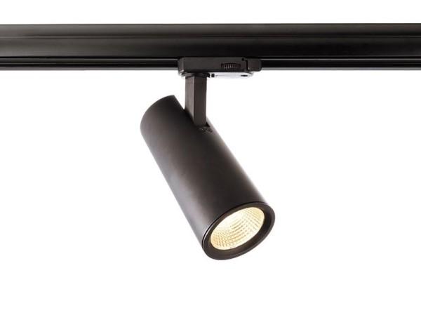 Deko-Light Schienensystem 3-Phasen 230V, Luna 15, Aluminium Druckguss, schwarz mattiert, Warmweiß