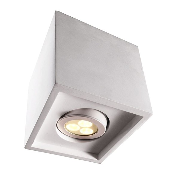 Kapego Deckenaufbauleuchte, Caja I, exklusive Leuchtmittel, spannungskonstant, 220-240V AC/50-60Hz