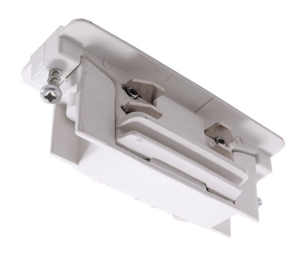 Ivela Schienensystem 3-Phasen 230V, Längsverbinder, Kunststoff, Weiß, 230V, 21mm